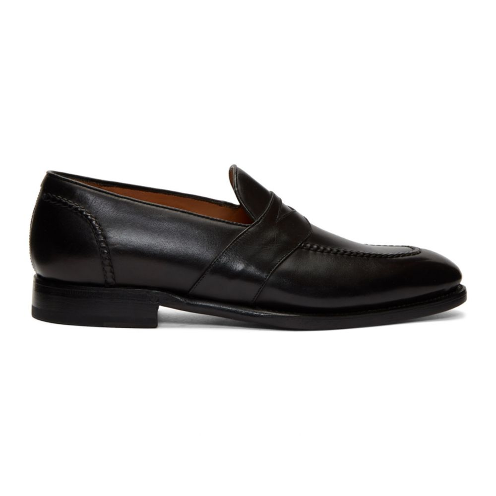ラルフ ローレン Ralph Lauren Purple Label メンズ ローファー シューズ・靴【Black Meegan Penny Loafers】Black