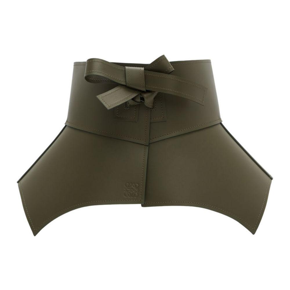 ロエベ Loewe レディース ベルト 【Khaki Leather Obi Belt】Khaki green