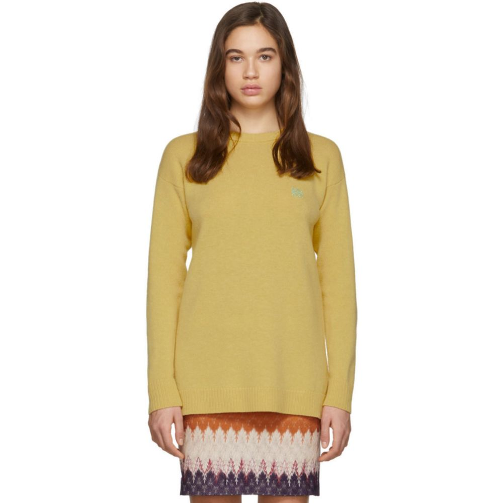 ロエベ Loewe レディース ニット・セーター トップス【Yellow Wool Anagram Sweater】Vanilla