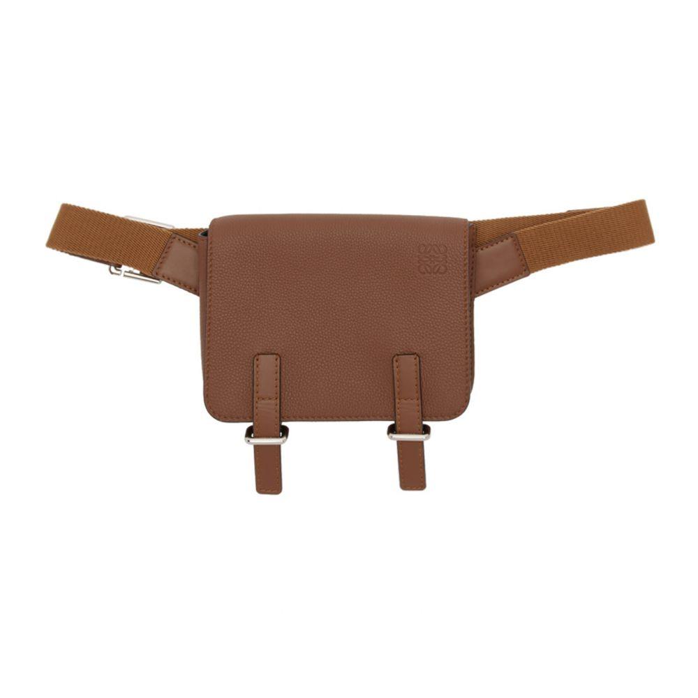 ロエベ Loewe メンズ ボディバッグ・ウエストポーチ バッグ【Brown Military Bum Bag】Cognac