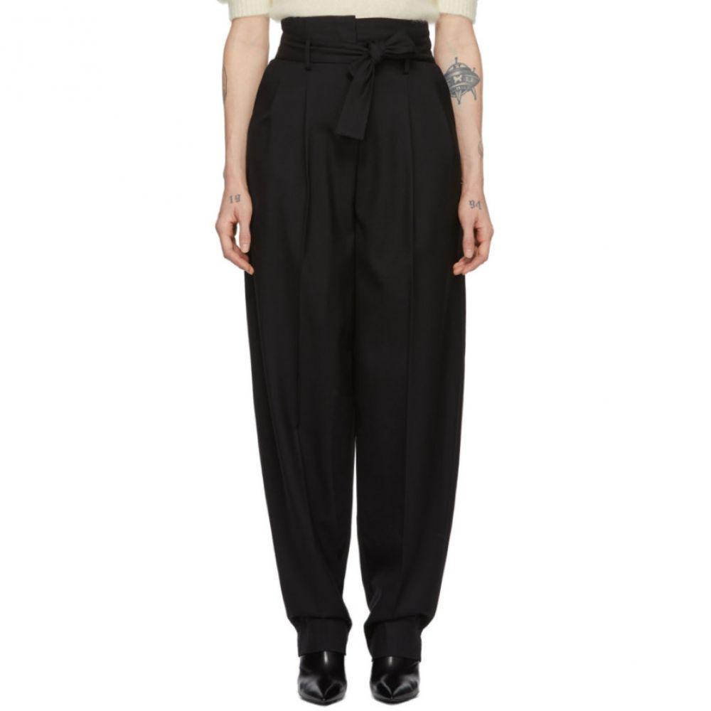 ワンダリング Wandering レディース ボトムス・パンツ 【Black Wool Trousers】Black