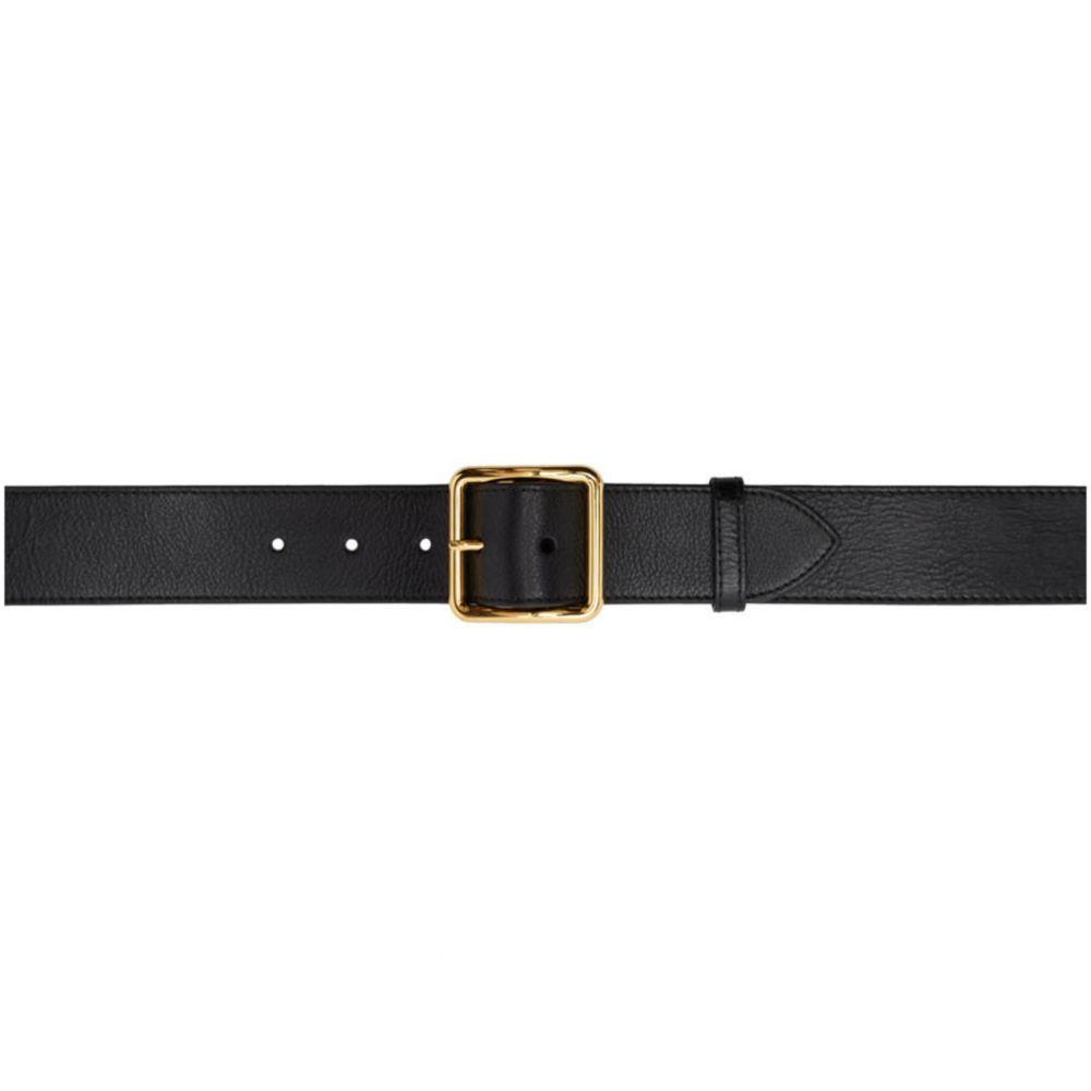 アレキサンダー マックイーン Alexander McQueen レディース ベルト 【Black Leather Belt】Black