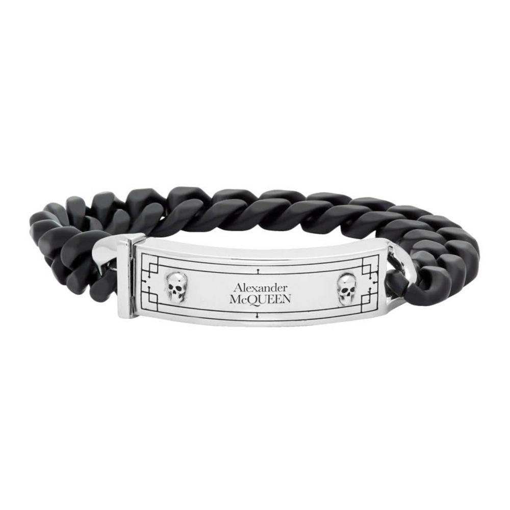 アレキサンダー マックイーン Alexander McQueen メンズ ブレスレット ジュエリー・アクセサリー【Black & Silver Identity Chain Bracelet】Black/Silver