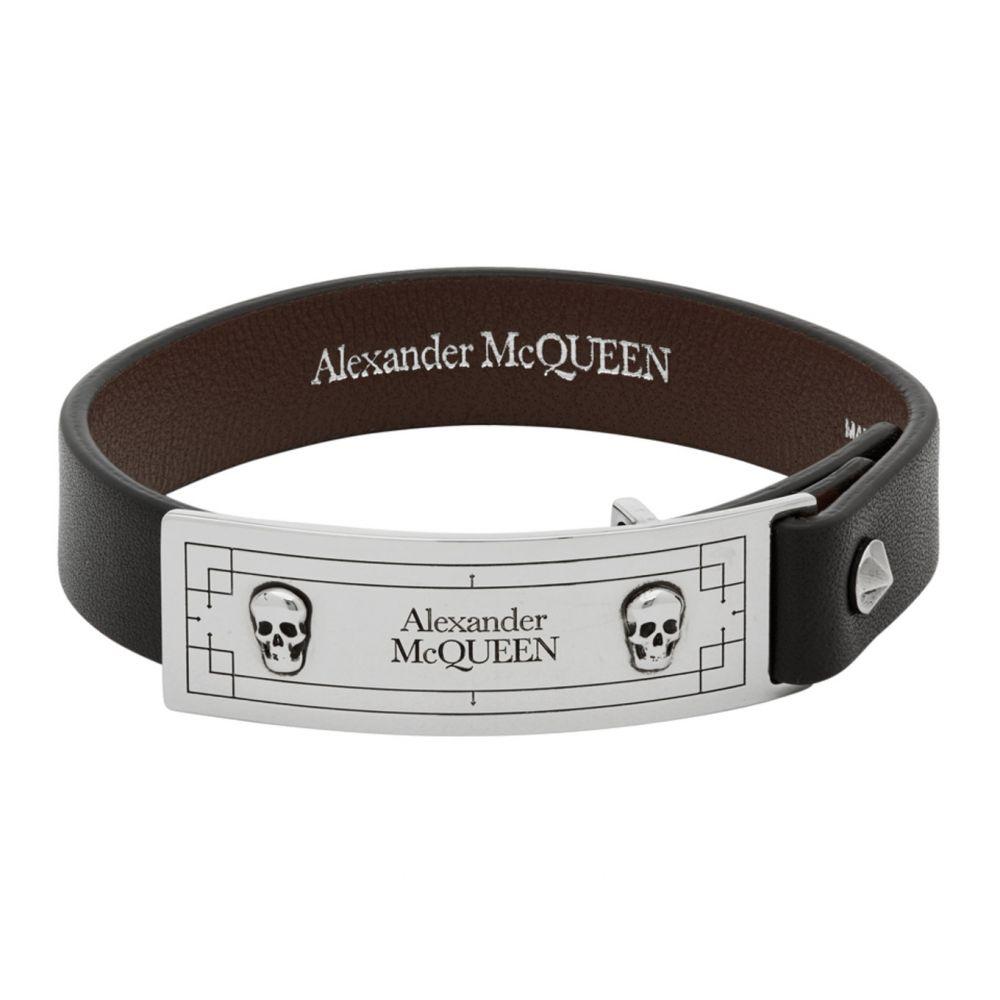 アレキサンダー マックイーン Alexander McQueen メンズ ブレスレット ジュエリー・アクセサリー【Black Identity Bracelet】Black