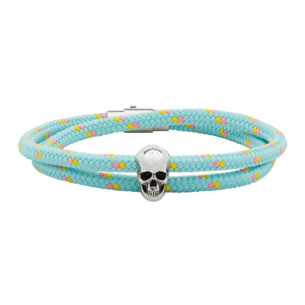 アレキサンダー マックイーン Alexander McQueen メンズ ブレスレット ジュエリー・アクセサリー【Blue Skull Friendship Bracelet】Turquoise