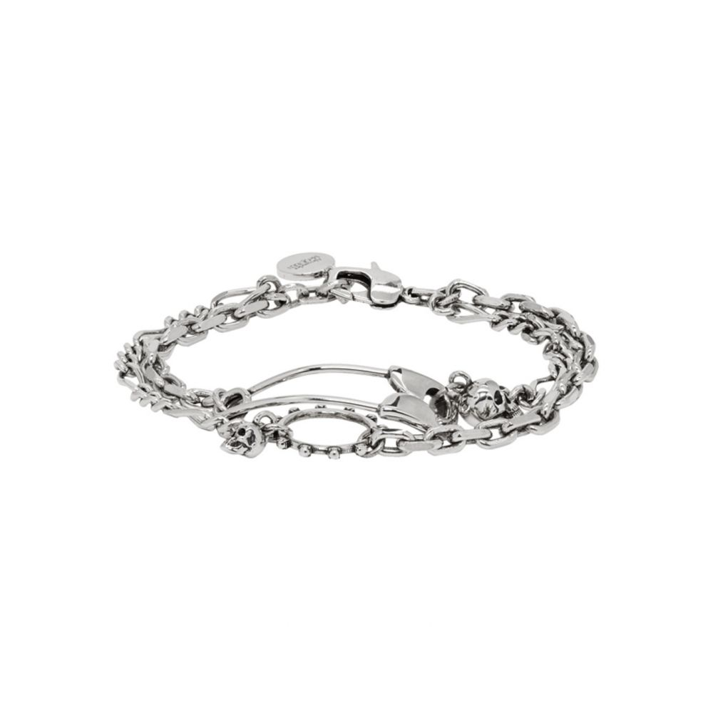 アレキサンダー マックイーン Alexander McQueen メンズ ブレスレット ジュエリー・アクセサリー【Silver Safety Pin Bracelet】Silver