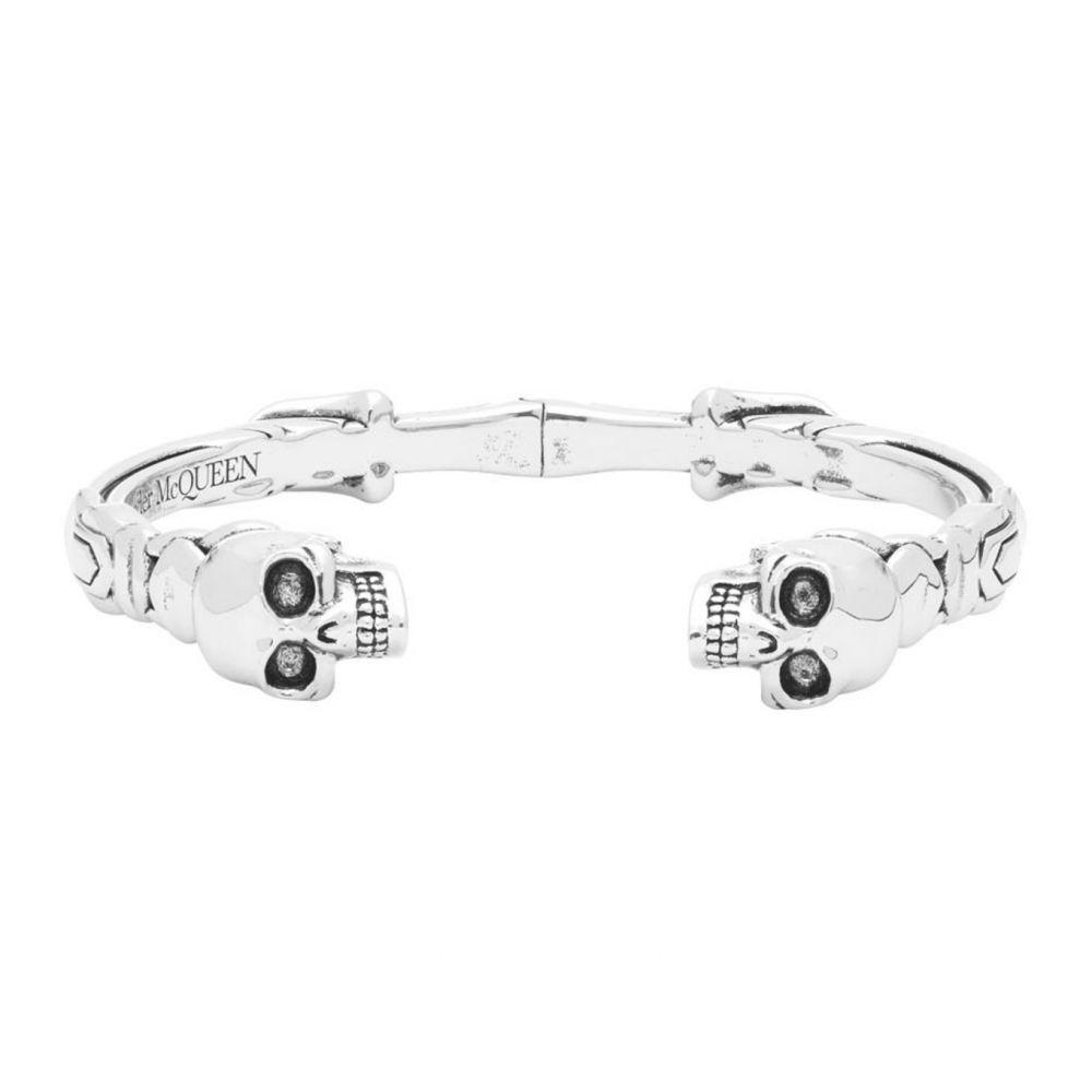 アレキサンダー マックイーン Alexander McQueen メンズ ブレスレット ジュエリー・アクセサリー【Silver Twin Skull Cuff Bracelet】Silver