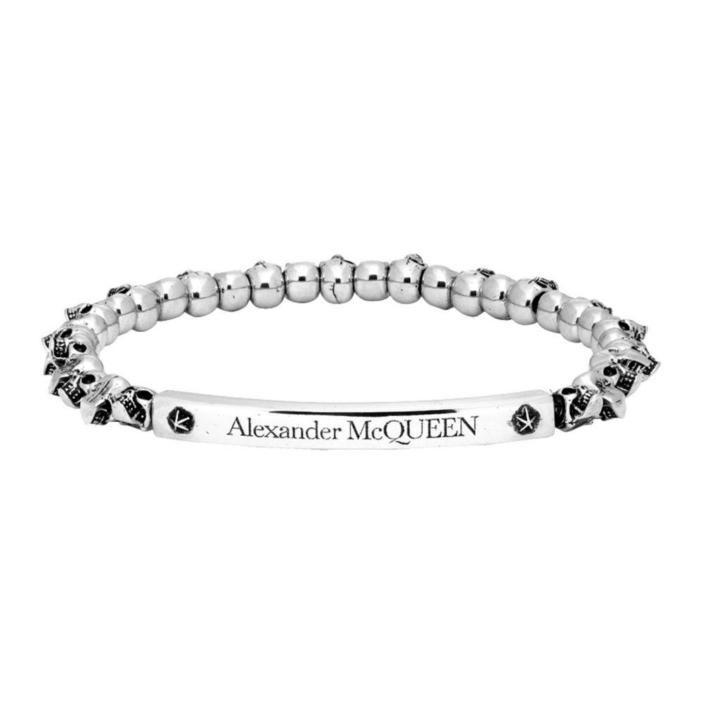 アレキサンダー マックイーン Alexander McQueen メンズ ブレスレット ジュエリー・アクセサリー【Silver Skull Bracelet】Silver