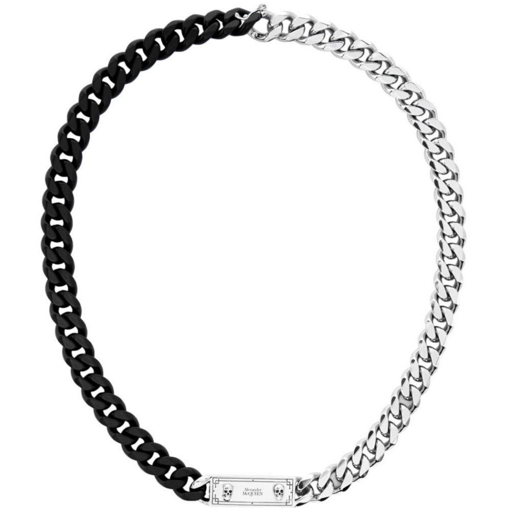 アレキサンダー マックイーン Alexander McQueen メンズ ネックレス ジュエリー・アクセサリー【Black & Silver Identity Chain Necklace】Black/Silver