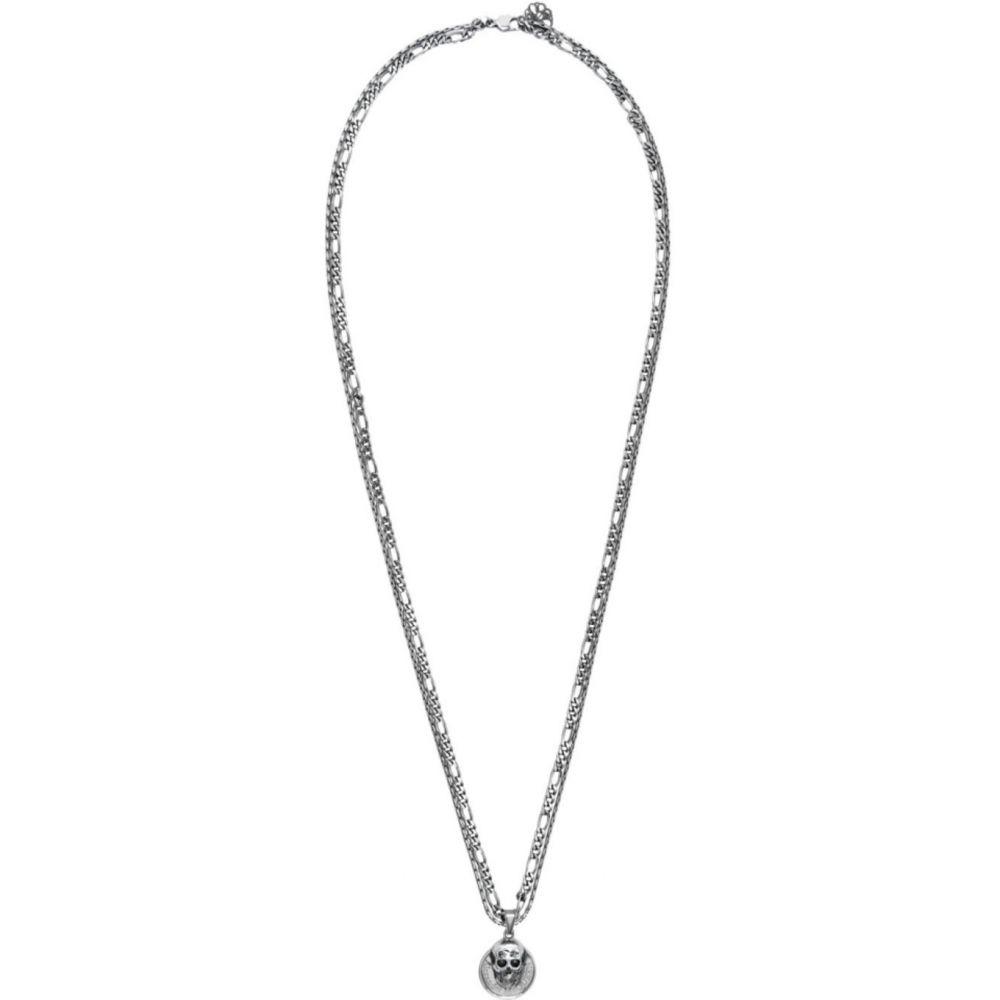アレキサンダー マックイーン Alexander McQueen メンズ ネックレス ジュエリー・アクセサリー【Silver Skull Coin Necklace】Silver