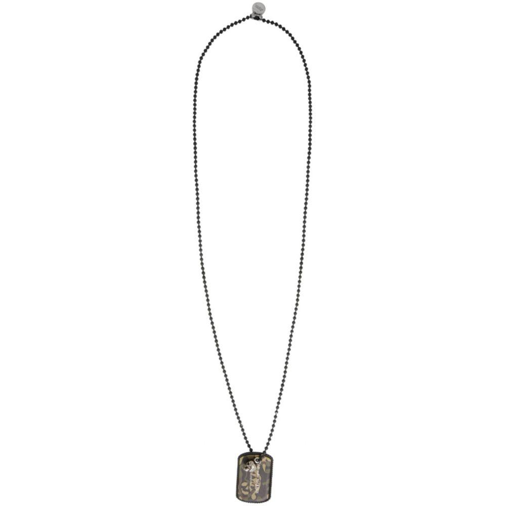 アレキサンダー マックイーン Alexander McQueen メンズ ネックレス ジュエリー・アクセサリー【Black Camouflage Beaded Necklace】Camo