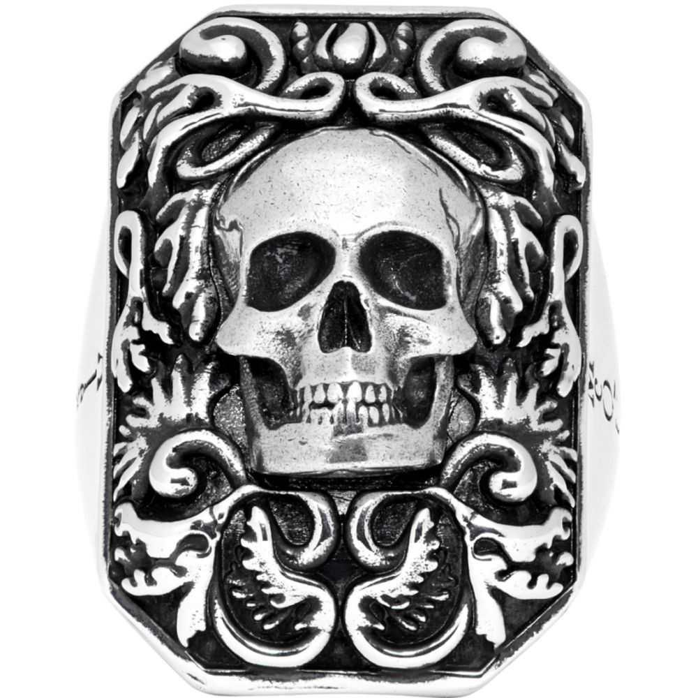 アレキサンダー マックイーン Alexander McQueen メンズ 指輪・リング ジュエリー・アクセサリー【Silver Snake Tag Ring】Silver