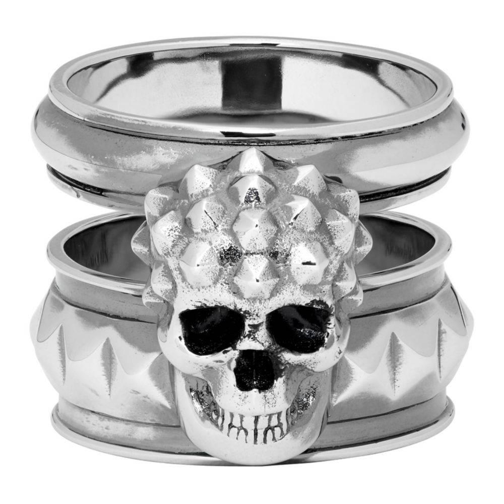 アレキサンダー マックイーン Alexander McQueen メンズ 指輪・リング ジュエリー・アクセサリー【Silver Snake Ring】Silver
