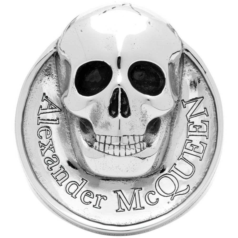 アレキサンダー マックイーン Alexander McQueen メンズ 指輪・リング ジュエリー・アクセサリー【Silver Skull Coin Ring】Silver