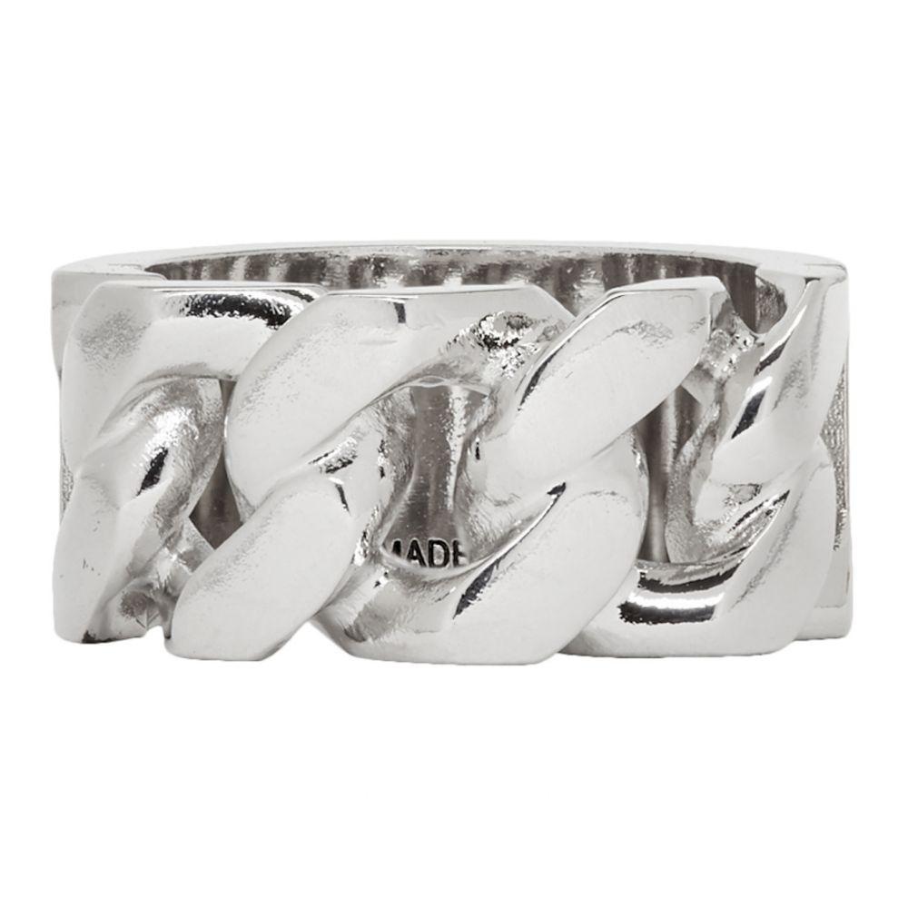 アレキサンダー マックイーン Alexander McQueen メンズ 指輪・リング ジュエリー・アクセサリー【Silver Identity Chain Ring】Silver