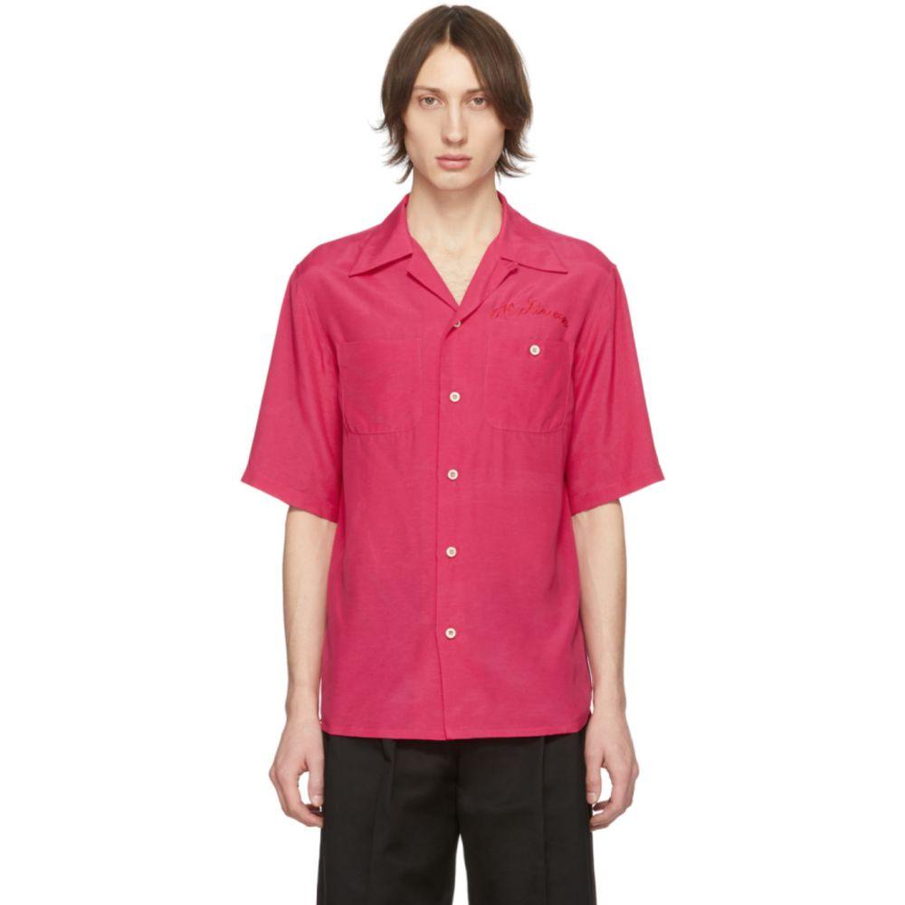 アレキサンダー マックイーン Alexander McQueen メンズ ボウリング ボーリングシャツ トップス【Pink Logo Bowling Shirt】Pink