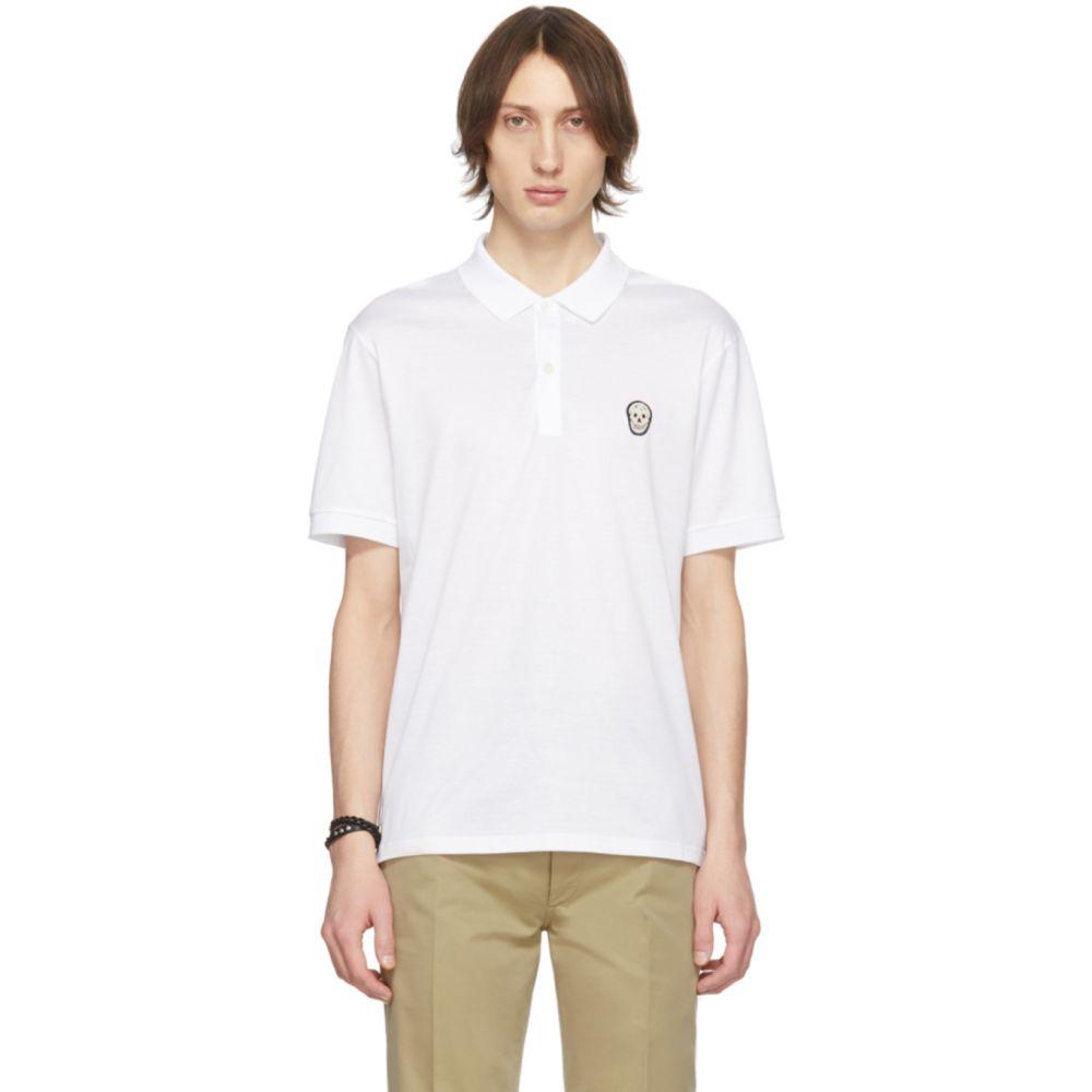 アレキサンダー マックイーン Alexander McQueen メンズ ポロシャツ トップス【White Skull Polo】White