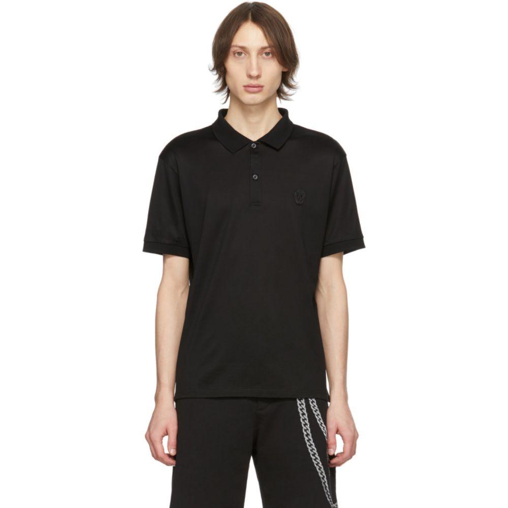 アレキサンダー マックイーン Alexander McQueen メンズ ポロシャツ トップス【Black Skull Polo】Black