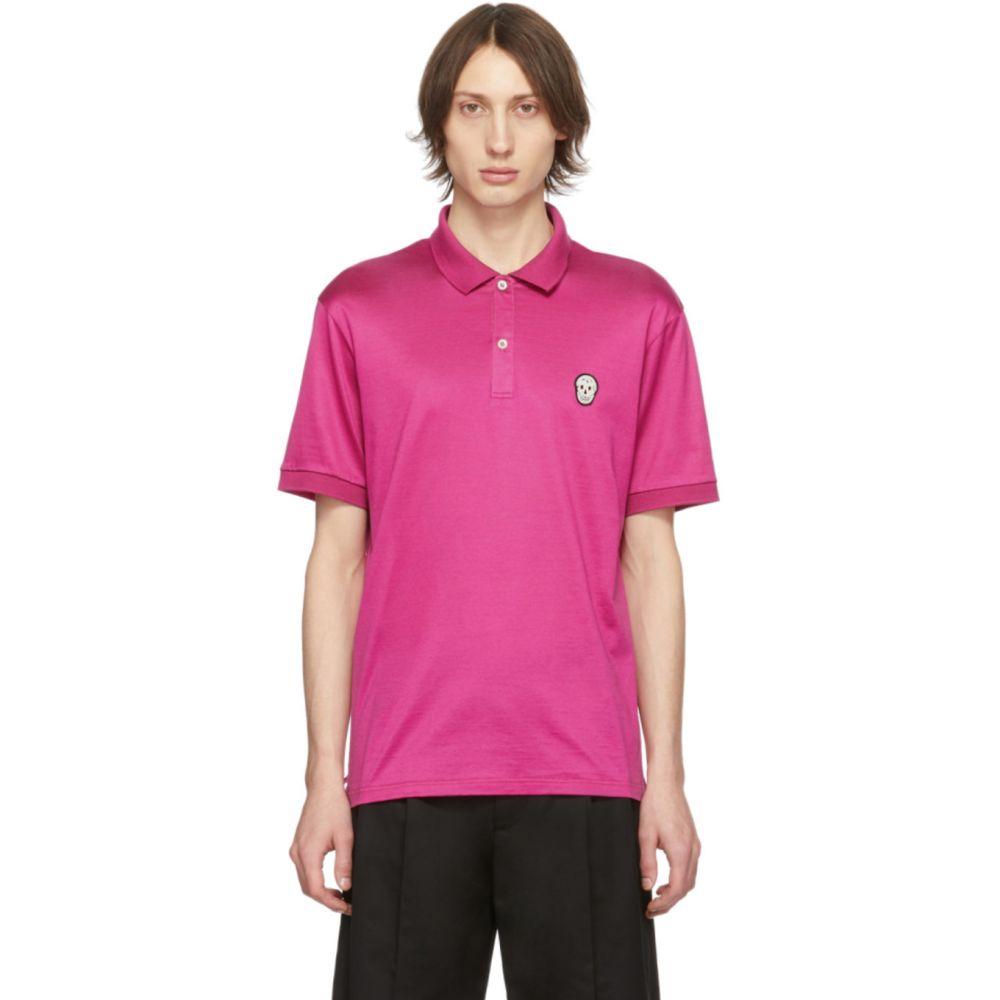 アレキサンダー マックイーン Alexander McQueen メンズ ポロシャツ トップス【Pink Skull Polo】Pink