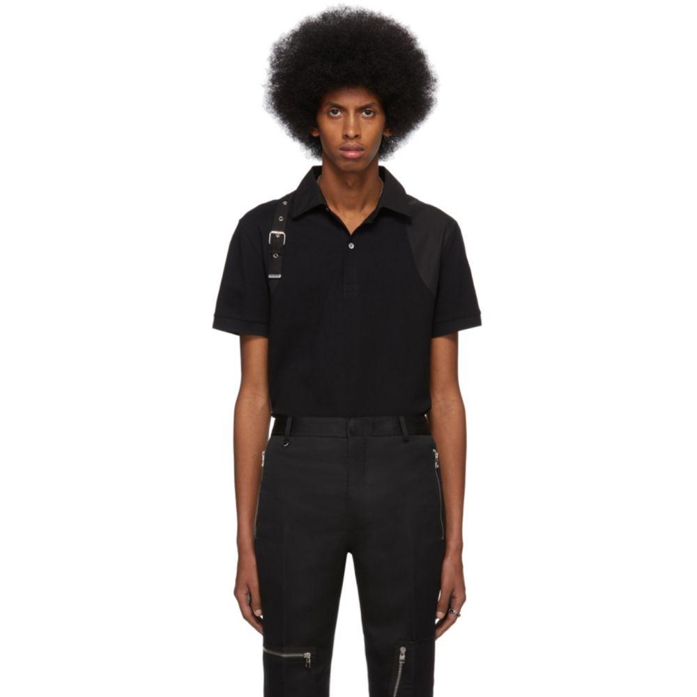 アレキサンダー マックイーン Alexander McQueen メンズ ポロシャツ トップス【Black Harness Polo】Black