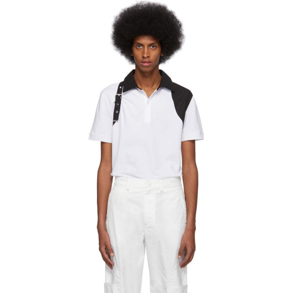アレキサンダー マックイーン Alexander McQueen メンズ ポロシャツ トップス【White Harness Polo】White