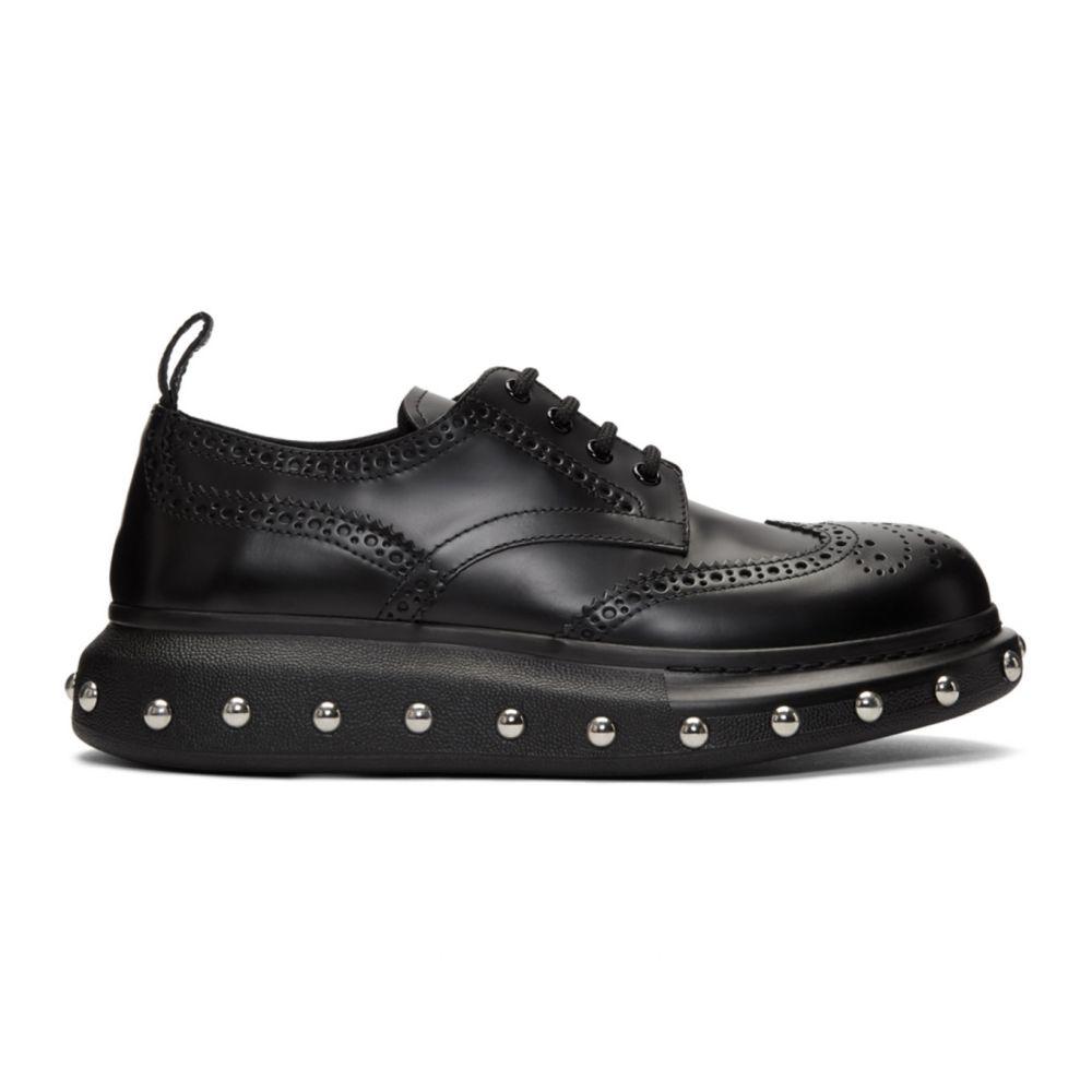 アレキサンダー マックイーン Alexander McQueen メンズ 革靴・ビジネスシューズ メダリオン シューズ・靴【Black New Liqui Spaz Lace Ups Brogues】Black/Silver
