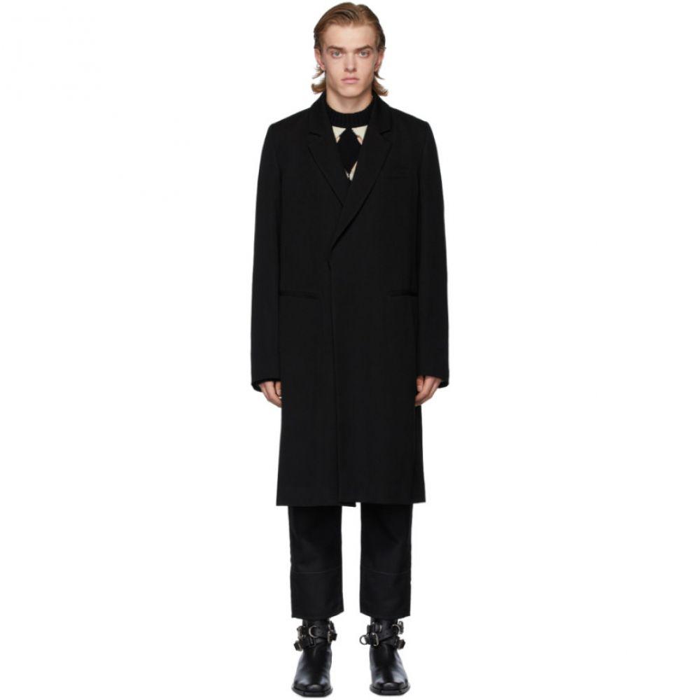 アンドゥムルメステール Ann Demeulemeester メンズ コート アウター【Black Wool Coat】Black