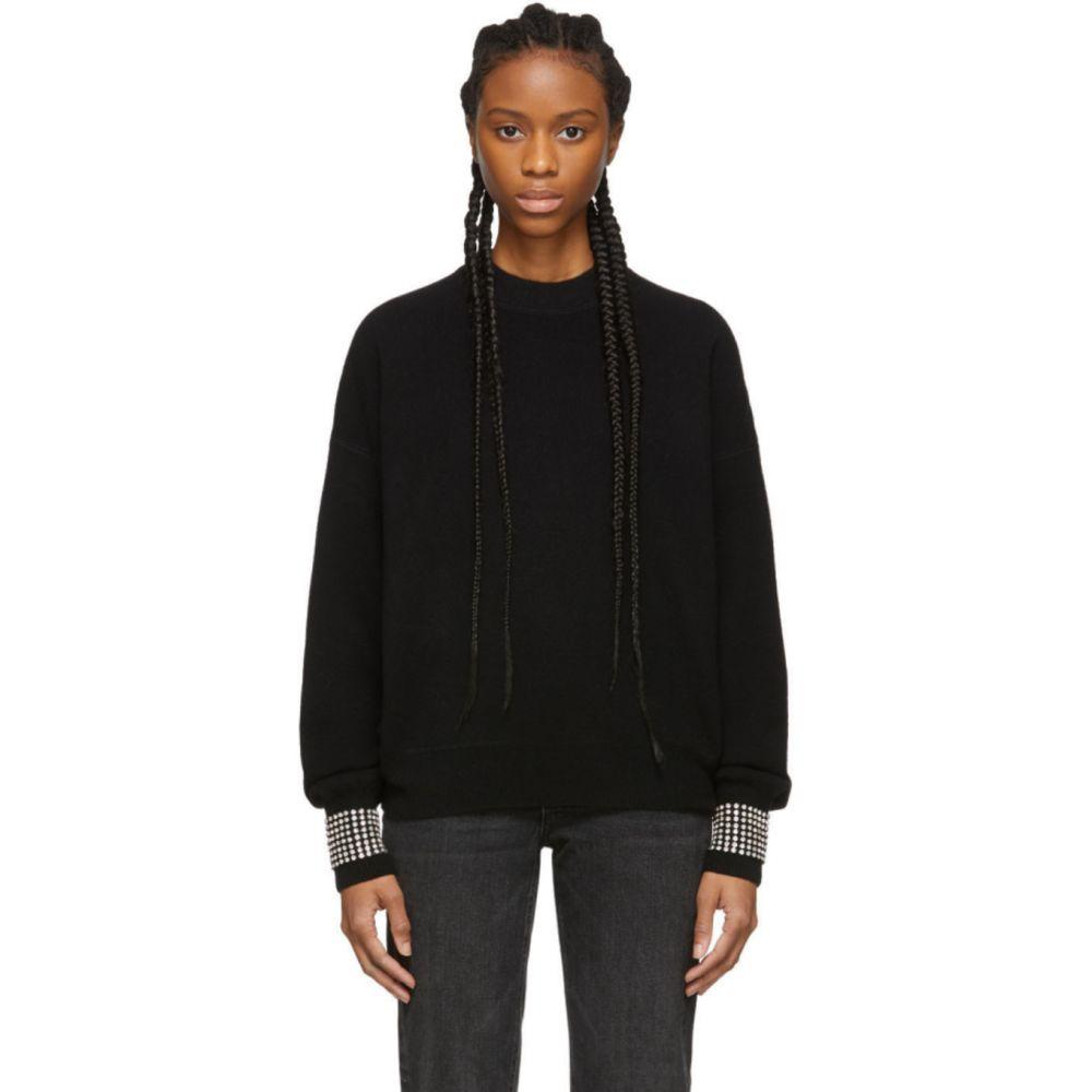 アレキサンダー ワン Alexander Wang レディース ニット・セーター トップス【Black Wool Crystal Crewneck Sweater】Black