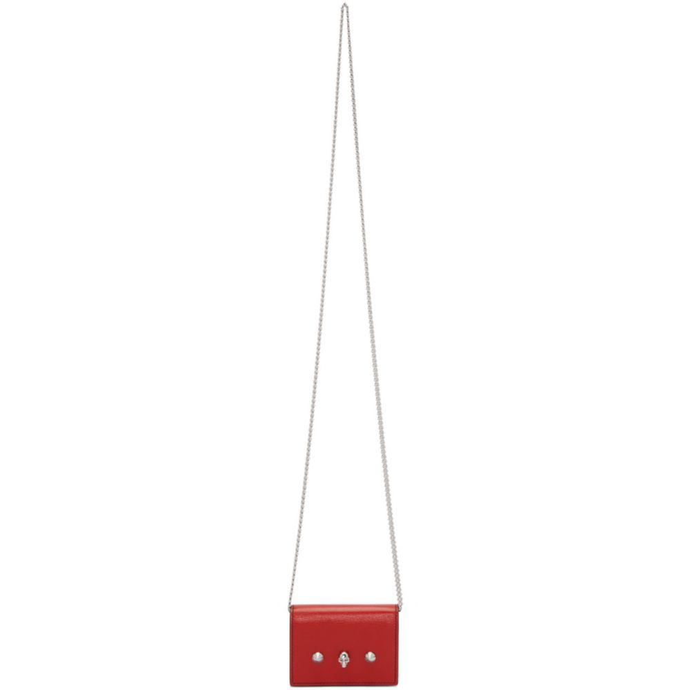 アレキサンダー マックイーン Alexander McQueen レディース カードケース・名刺入れ カードホルダー【Red Chain Card Holder Bag】Red/Black
