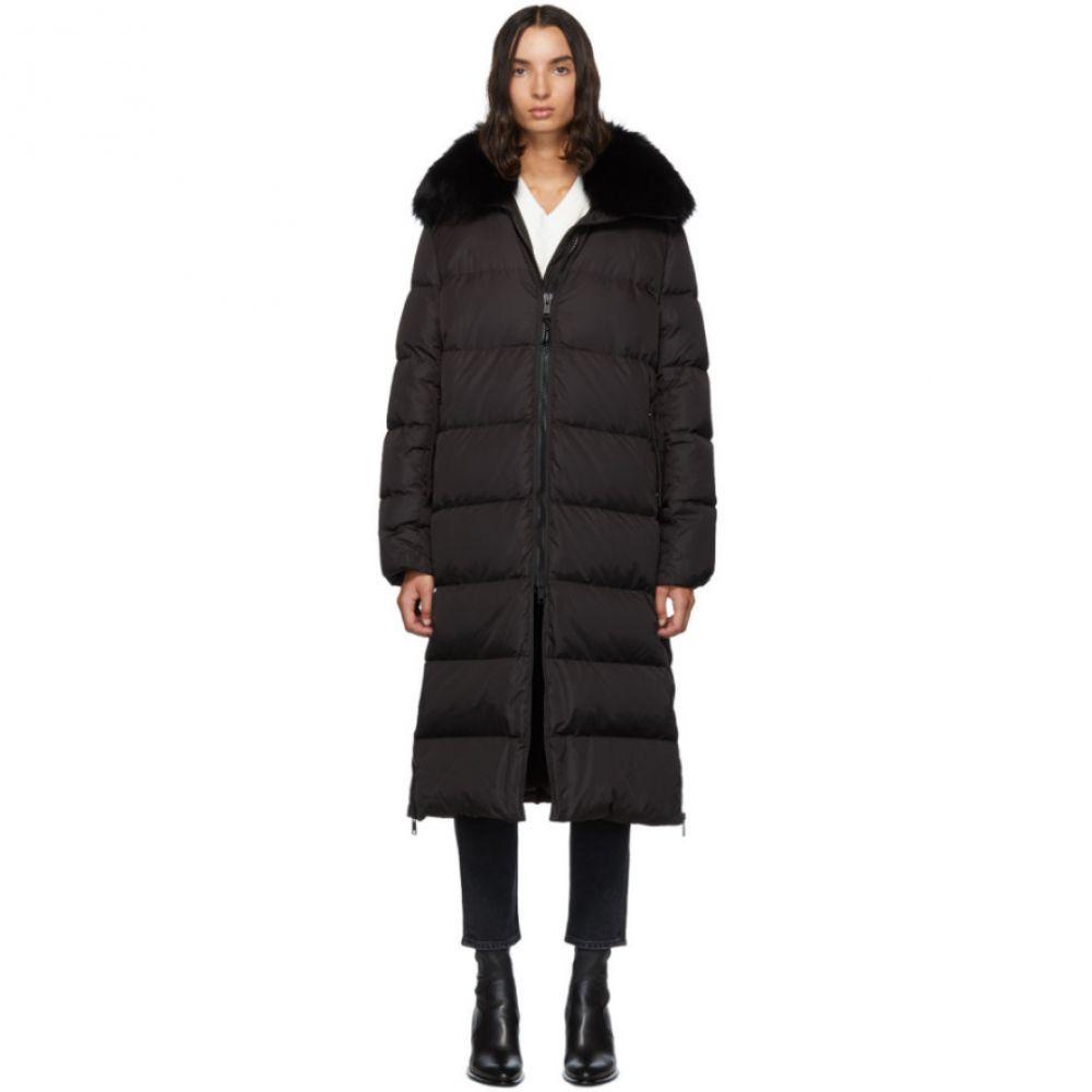 イヴ サロモン Yves Salomon - Army レディース ダウン・中綿ジャケット アウター【Black Down & Fur Technical Doudoune Jacket】Black