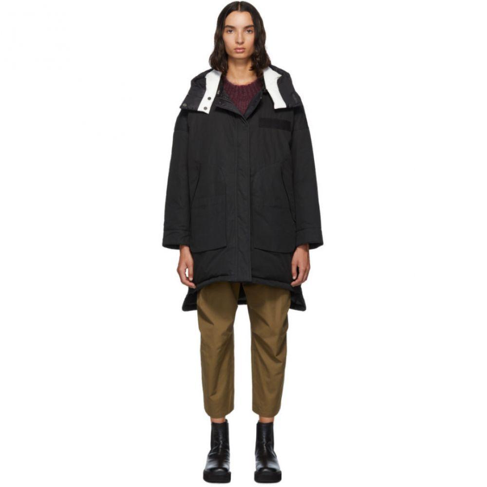 イヴ サロモン Yves Salomon - Army レディース ダウン・中綿ジャケット アウター【Reversible Black Down Doudoune Jacket】Black