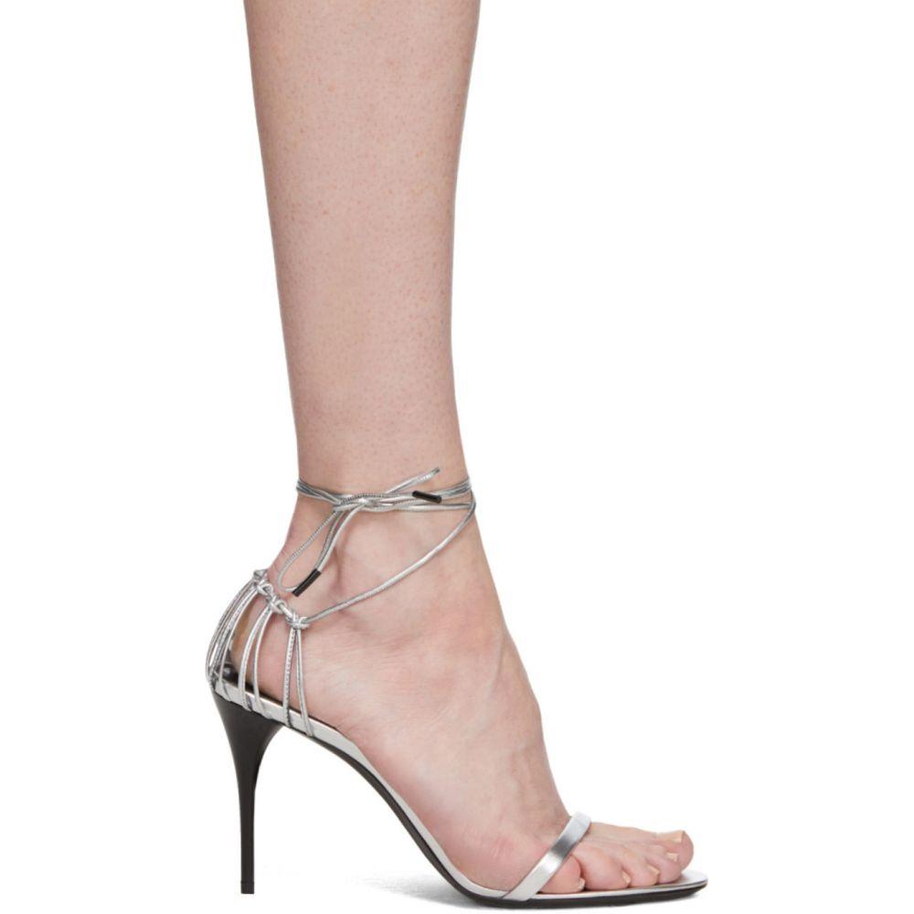 イヴ サンローラン Saint Laurent レディース サンダル・ミュール シューズ・靴【Silver Lexi 90 Heeled Sandals】Silver
