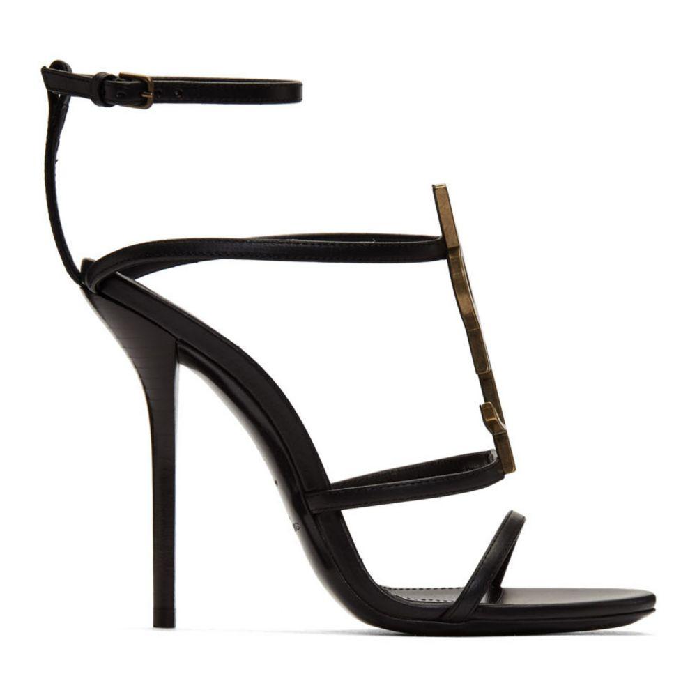イヴ サンローラン Saint Laurent レディース サンダル・ミュール シューズ・靴【Black Cassandra 110 Heels】Black