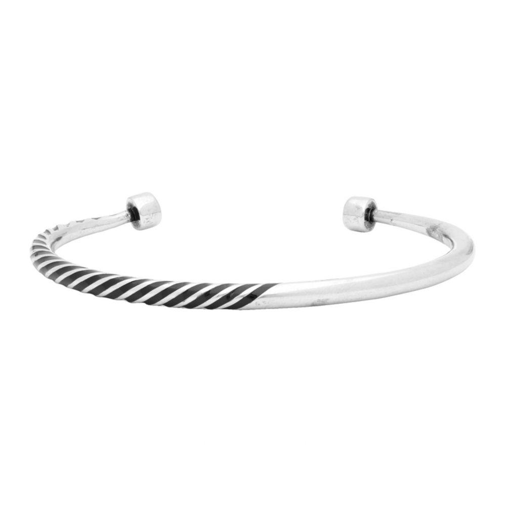 イヴ サンローラン Saint Laurent メンズ ブレスレット ジュエリー・アクセサリー【Silver Tribal Half-Twisted Bracelet】Silver