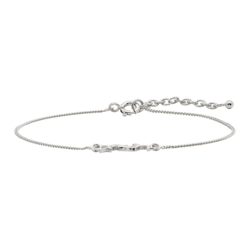 イヴ サンローラン Saint Laurent メンズ ブレスレット ジュエリー・アクセサリー【Silver Monogram Bracelet】Silver