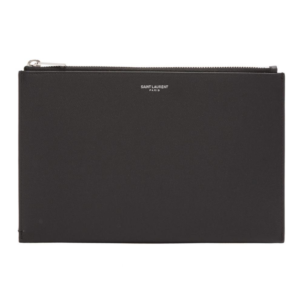 イヴ サンローラン Saint Laurent メンズ タブレットケース 【Black Mini Tablet Holder Pouch】Black