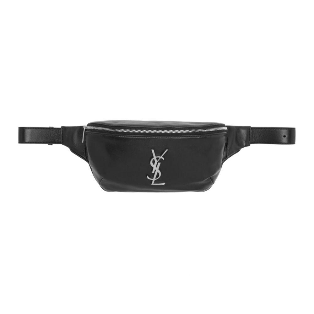 イヴ サンローラン Saint Laurent メンズ ボディバッグ・ウエストポーチ バッグ【Black Classic Monogramme Belt Bag】Black
