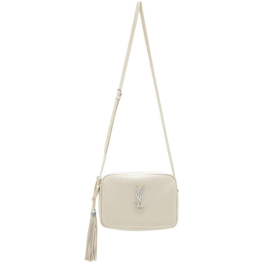 イヴ サンローラン Saint Laurent レディース ショルダーバッグ カメラバッグ バッグ【Off-White Lou Camera Bag】White
