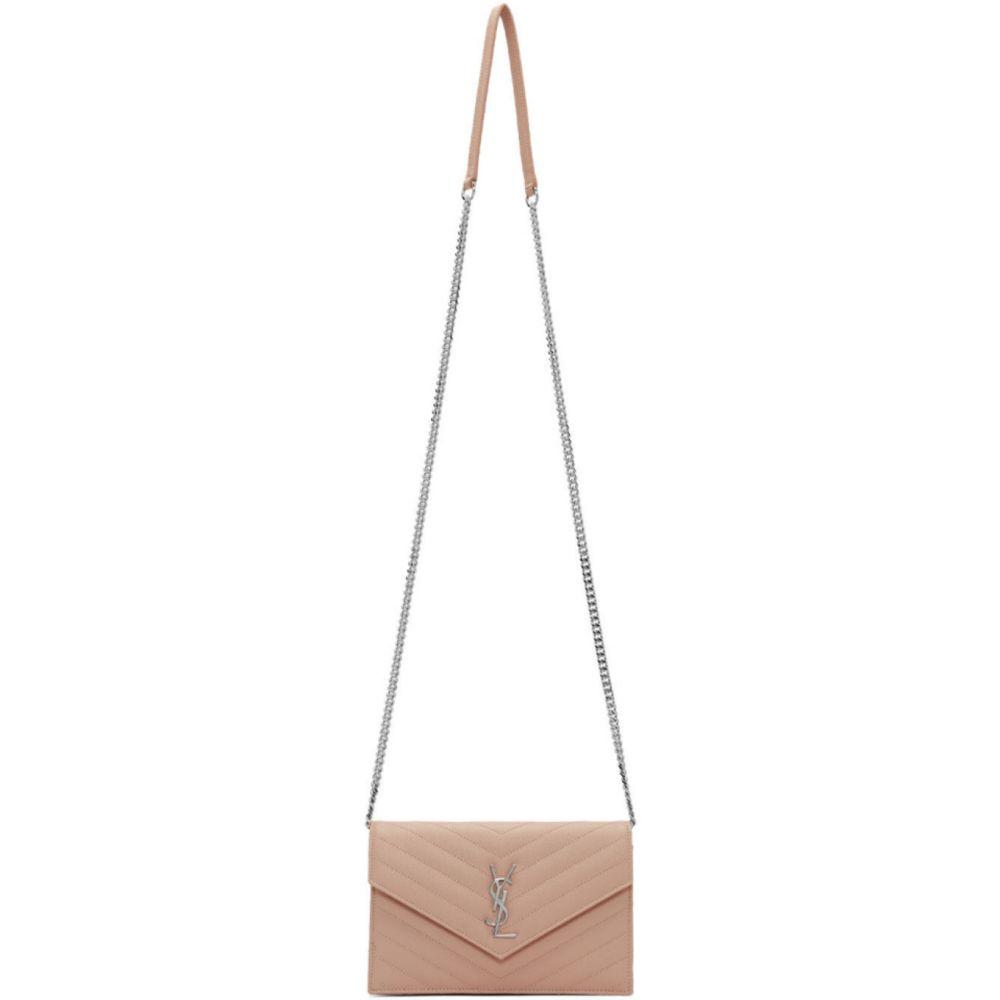 イヴ サンローラン Saint Laurent レディース ショルダーバッグ バッグ【Pink Small Envelope Chain Wallet Bag】Marble pink