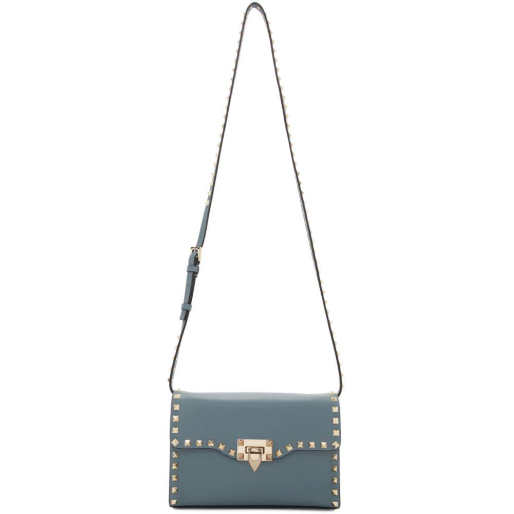 ヴァレンティノ Valentino レディース ショルダーバッグ バッグ【Blue Garavani Small Rockstud Flap Bag】Amadeus