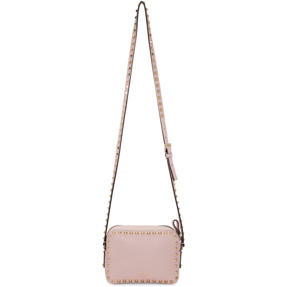 ヴァレンティノ Valentino レディース ショルダーバッグ バッグ【Pink Garavani Rockstud Crossbody Bag】Rose