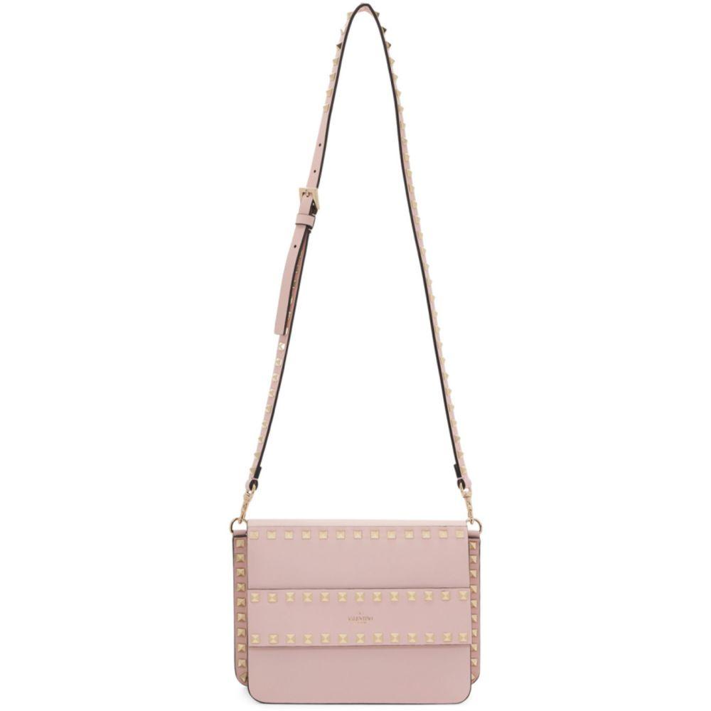 ヴァレンティノ Valentino レディース ショルダーバッグ バッグ【Pink Garavani Small Rockstud Shoulder Bag】Rose quartz