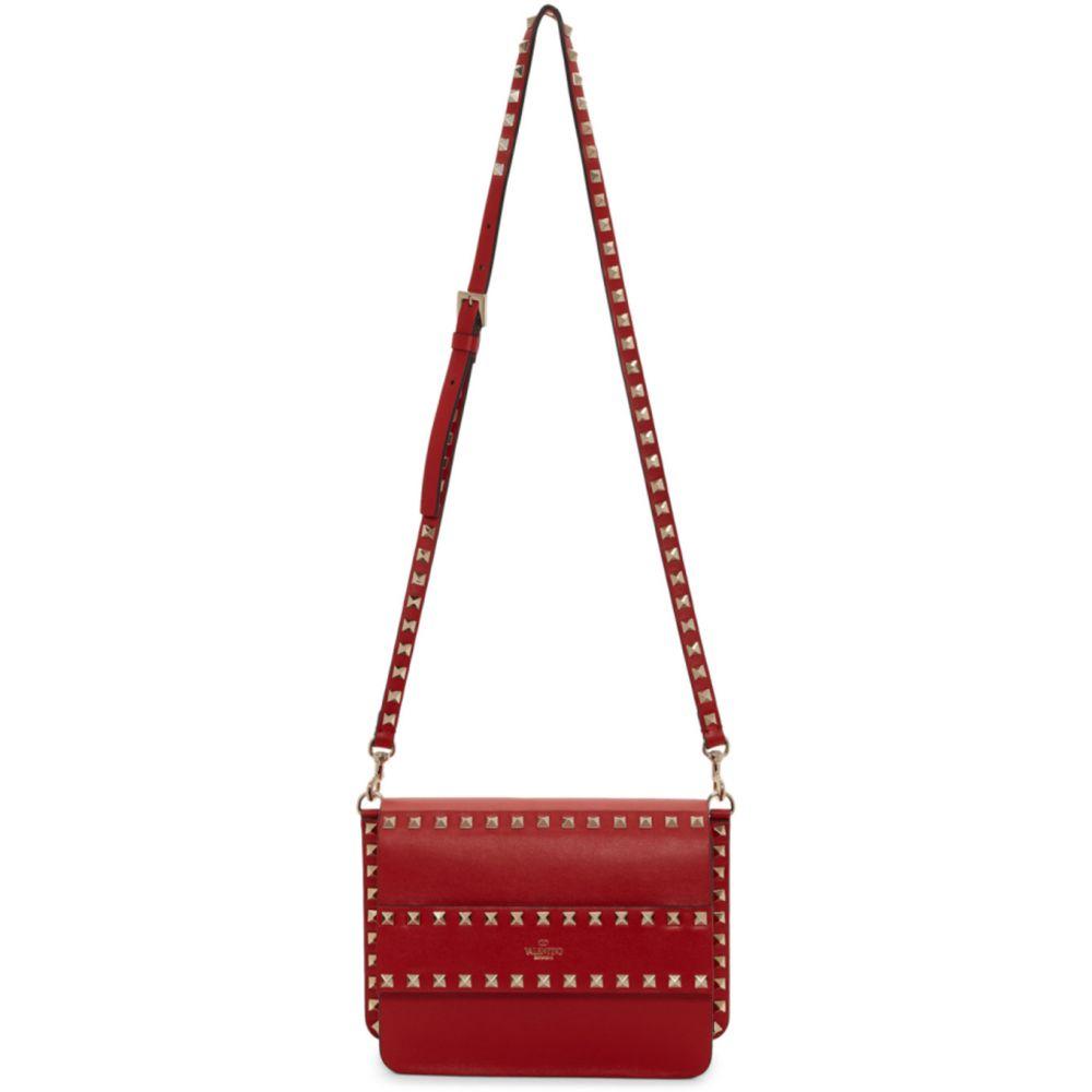 ヴァレンティノ Valentino レディース ショルダーバッグ バッグ【Red Garavani Small Rockstud Shoulder Bag】Rouge