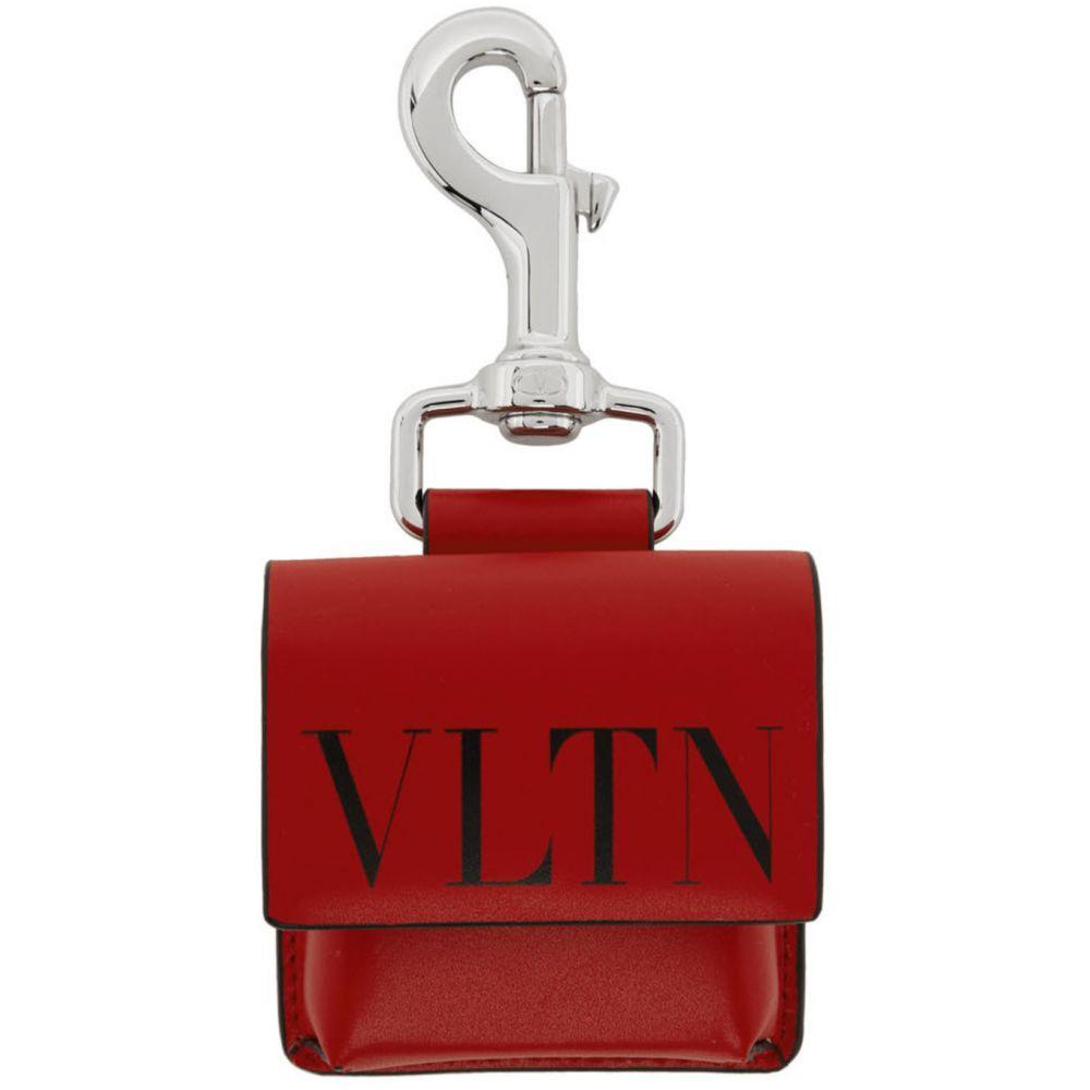 ヴァレンティノ Valentino メンズ キーホルダー キーチェーン【Red & Black Garavani 'VLTN' Pouch Keychain】Rosso/Nero