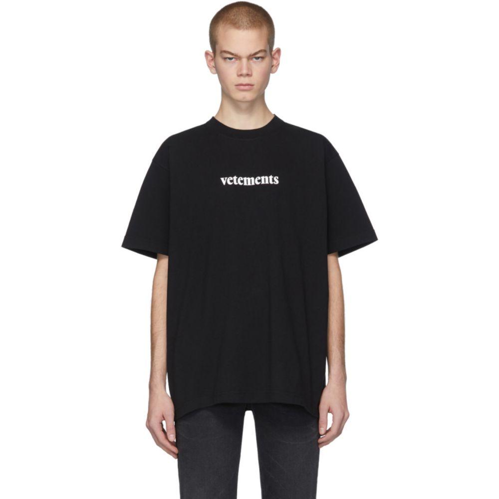 ヴェトモン VETEMENTS メンズ Tシャツ トップス【Black Postage T-Shirt】Black/White