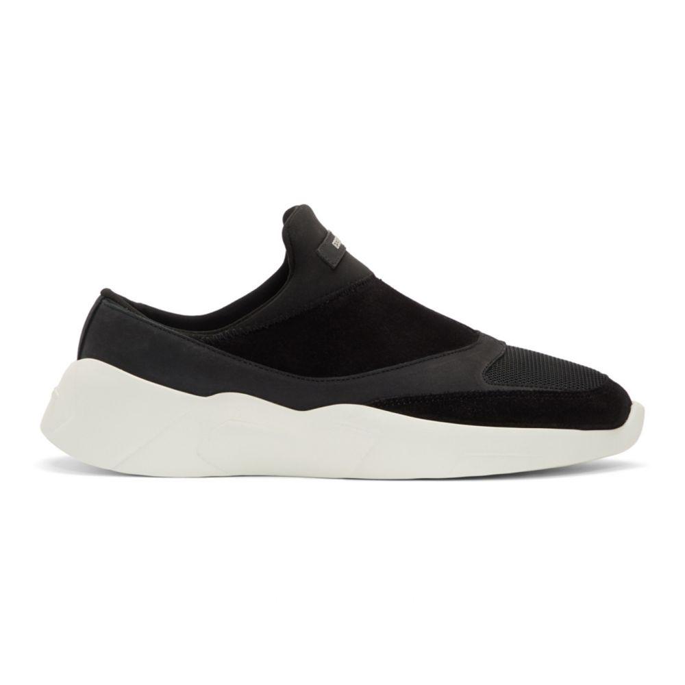 エッセンシャルズ Essentials レディース スニーカー シューズ・靴【Black Laceless Backless Sneakers】Black