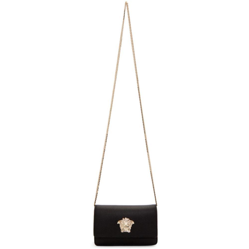 ヴェルサーチ Versace レディース ショルダーバッグ バッグ【Black & Gold Palazzo Bag】Black
