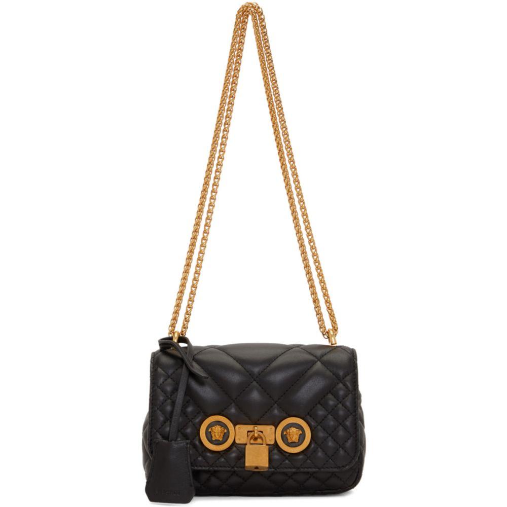 ヴェルサーチ Versace レディース ショルダーバッグ バッグ【Black Quilted Icon Bag】Black