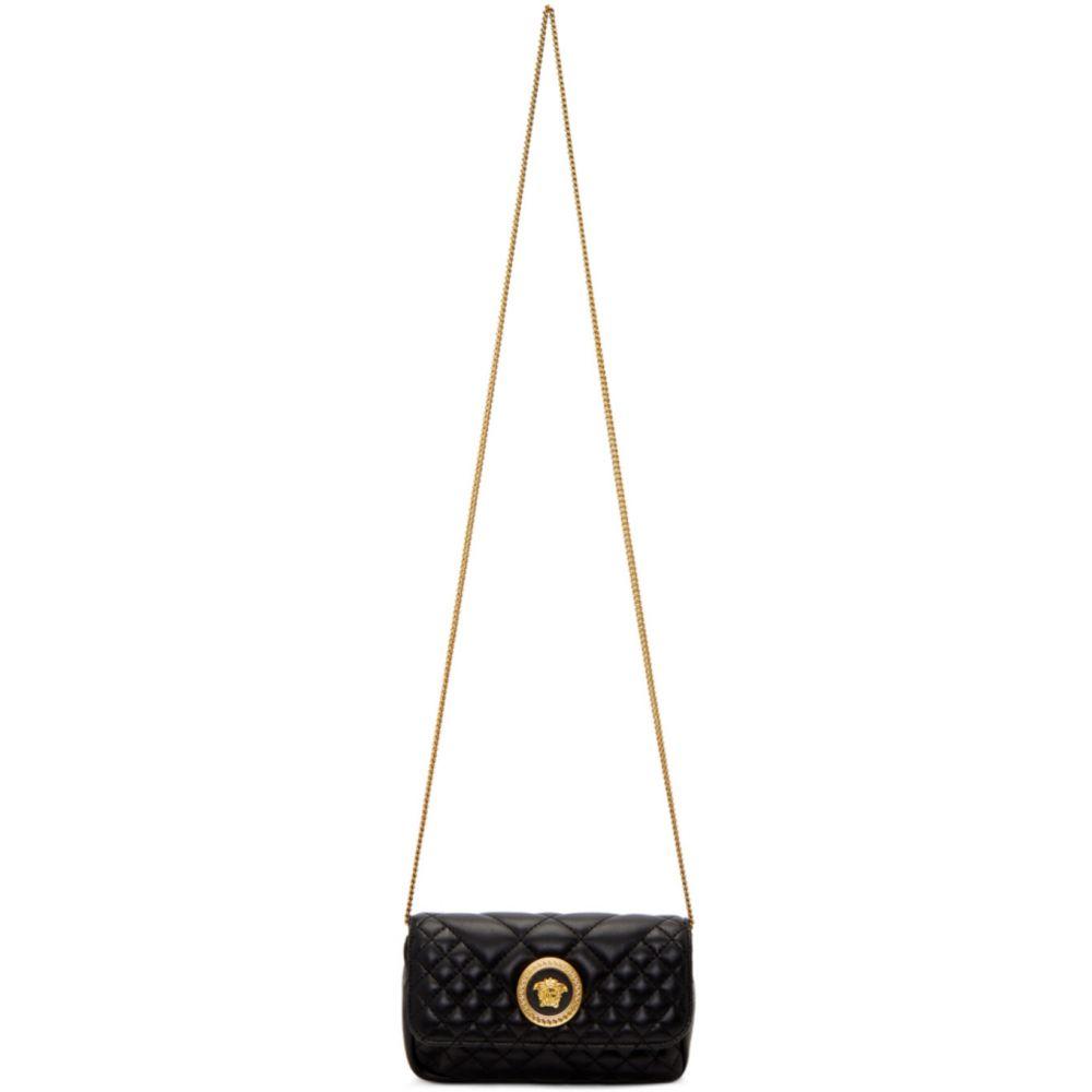 ヴェルサーチ Versace レディース ショルダーバッグ バッグ【Black Mini Quilted Icon Bag】Black