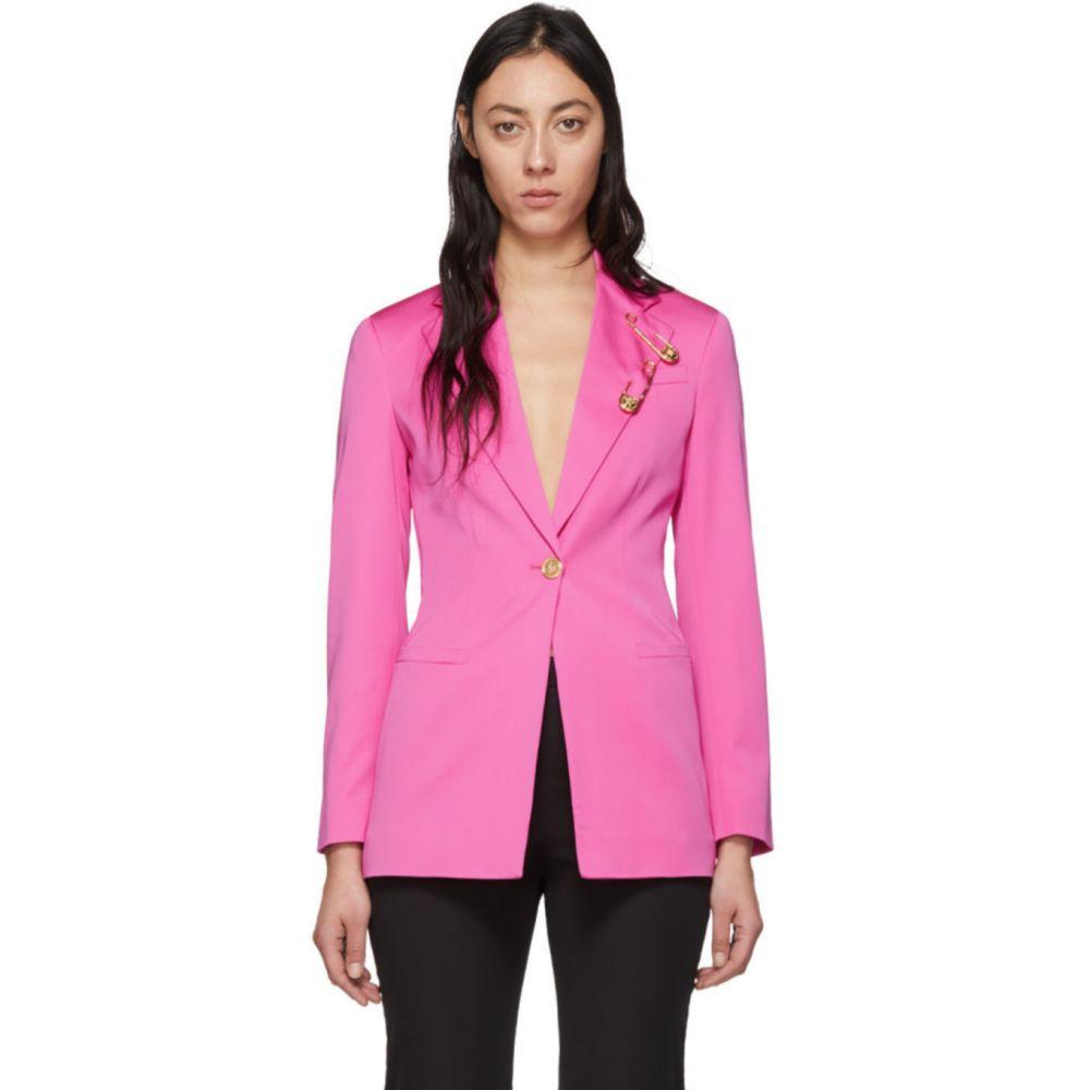 ヴェルサーチ Versace レディース スーツ・ジャケット アウター【Pink Safety Pin Blazer】Fuschia